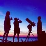 ビーチで天体観測
